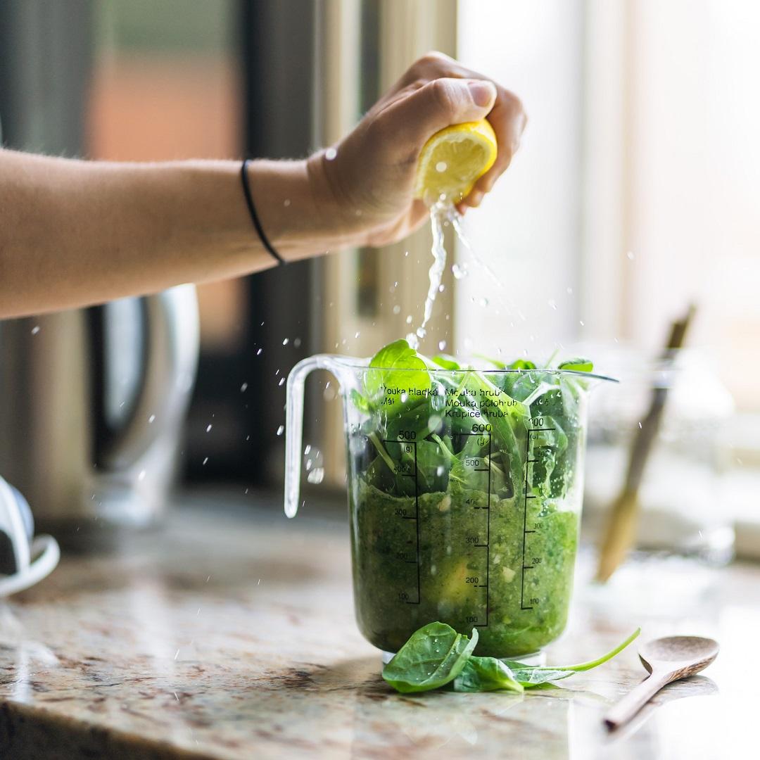 detoks, limon, yeşil, yeşillik, sebze, ölçü kabı