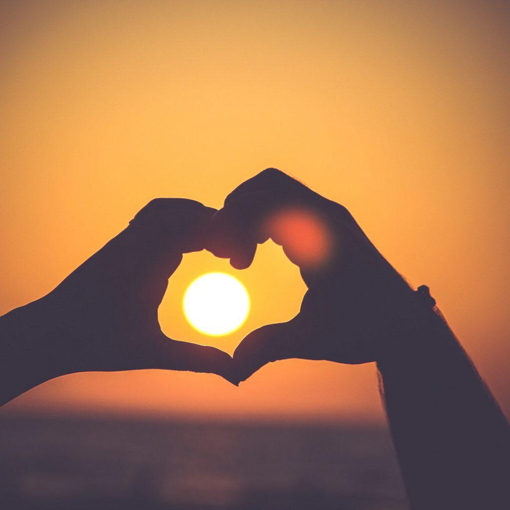 güneş, kalp, sevgi, mutluluk