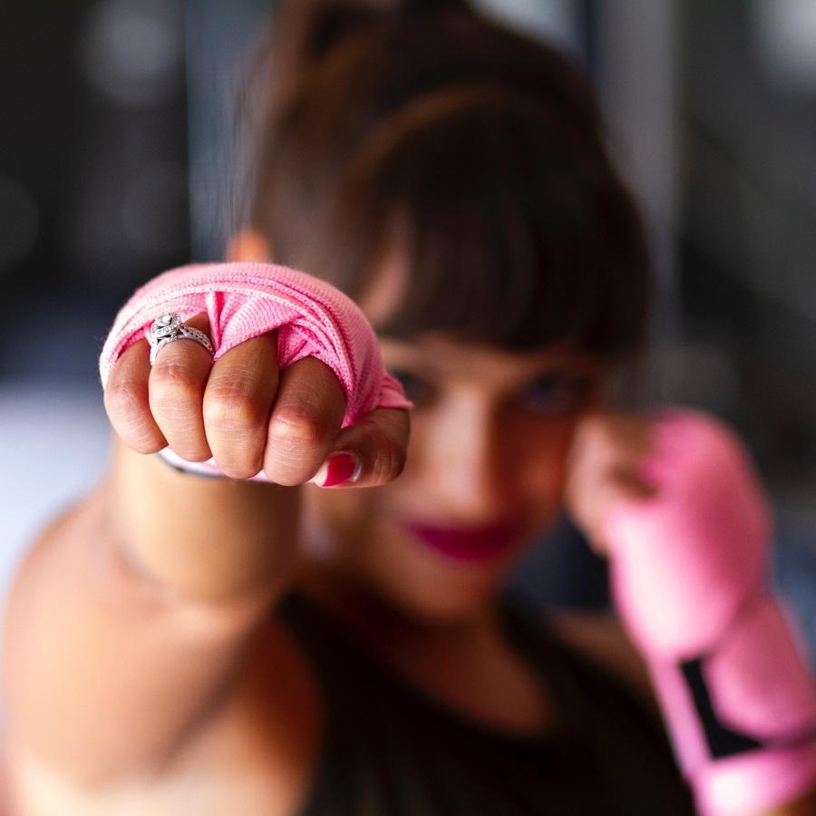 Spor, kadın sporcu, boks, idman, pembe, fiziksel aktivite, spor