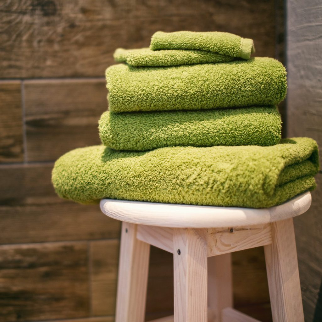 Sauna, havlu, yeşil, spor salonu