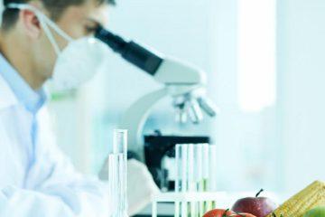 Besin intoleransı, gıda testi, laboratuvar, mikroskop, erkek diyetisyen