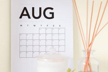 Ağustos, ağustos ayı, takvim
