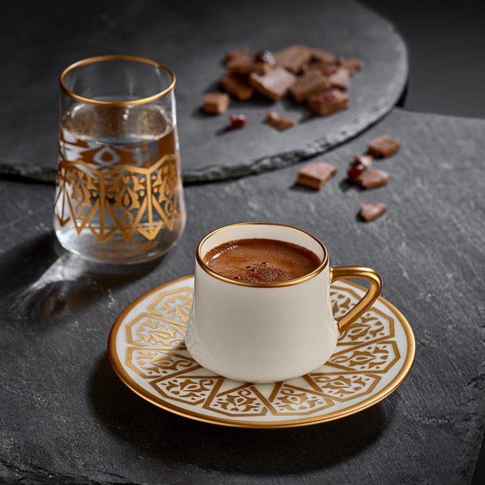 kahve, türk kahvesi, kahve fincanı, su, köpüklü kahve
