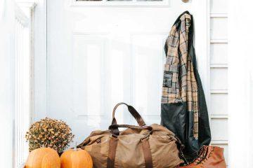 Deprem çantası, acil durum çantası, kabak, portmanto, beyaz, kahverengi