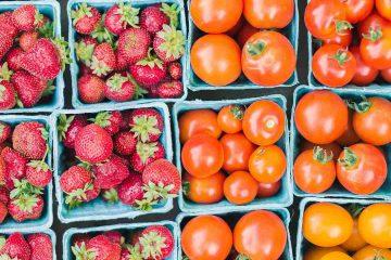 çilek, domates, pazar, market, sebze, manav