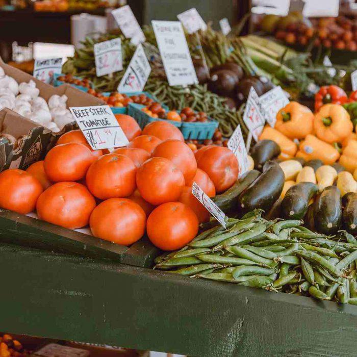 domates, manav, meyve sebze, tezgah, market