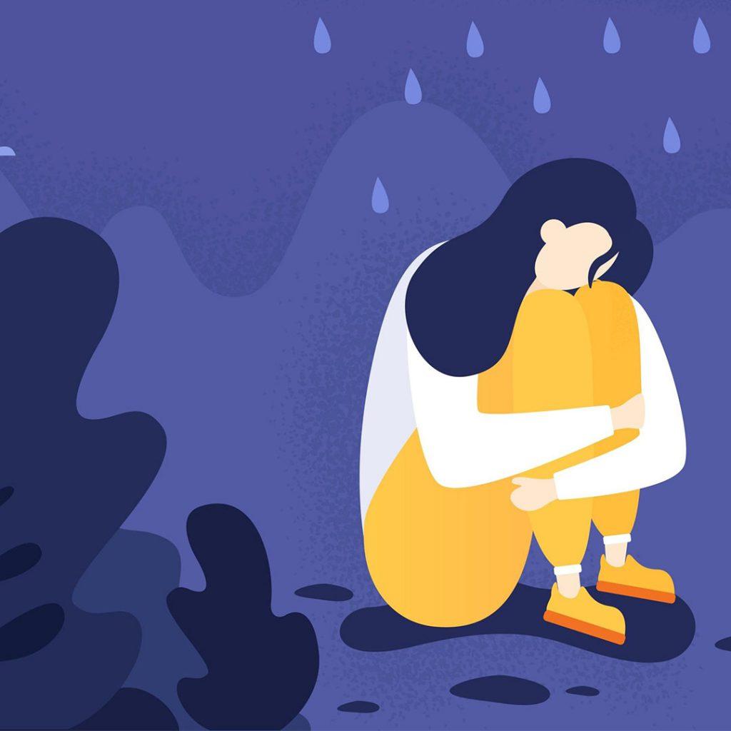 kadın,mor,ağlama,üzüntü