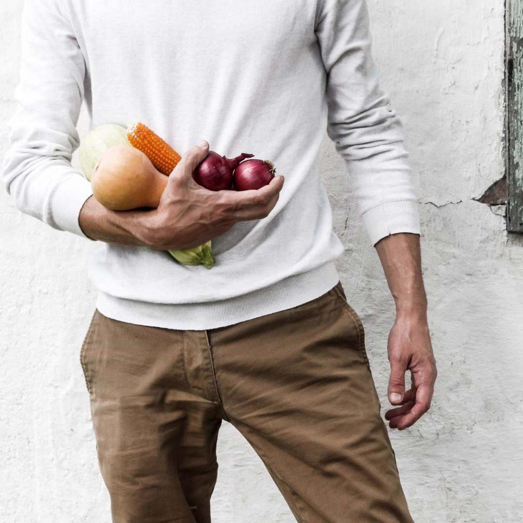 mevsim sebzeleri, adam, erkek diyetisyen, beyaz, kahverengi