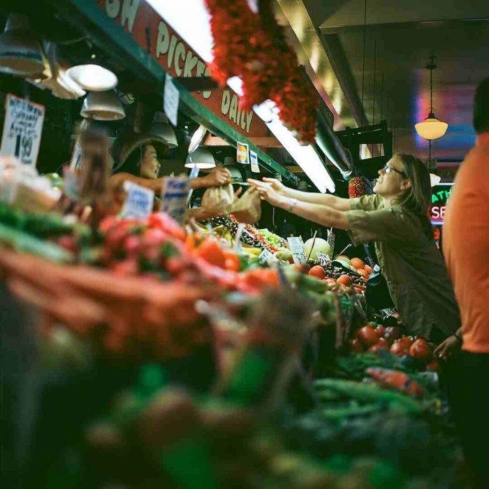 pazar, alışveriş, manav, meyve sebze, satış tezgah