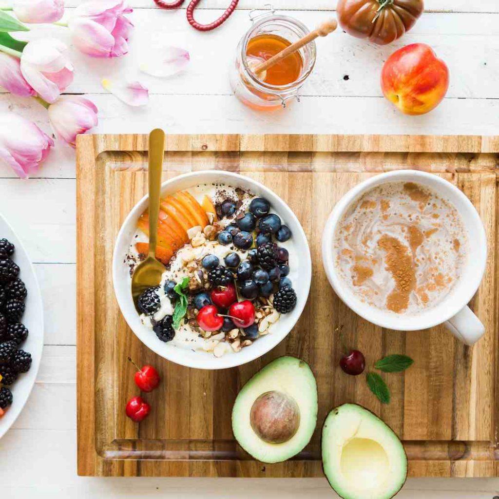 kahvaltı, meyveler, besinler, ağaç, avokado, yeşillik, ortoreksiya