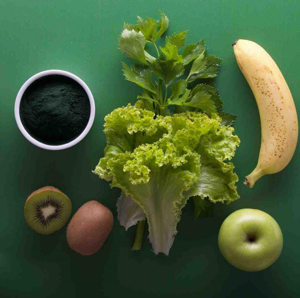 meyveler, muz, yeşil, kahve, ara öğün, elma