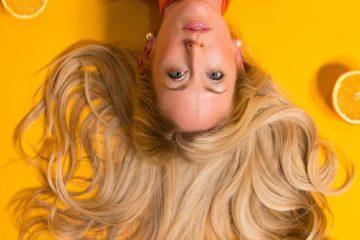 saç, limon, portakal, sarı, kadın, güzellik