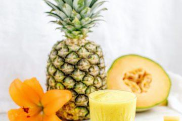 ananas detoksu, ananas smoothie, sarı içecek, meyve, tropik
