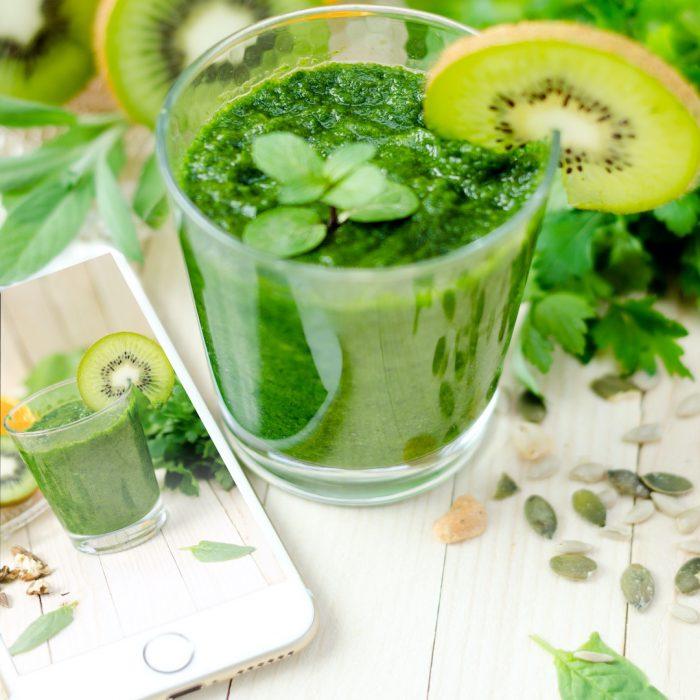 kivi, yeşil, yeşillik, detoks, smoothie