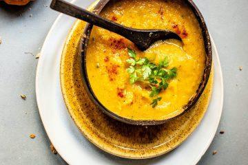 sebze çorbası, kabak, maydonoz, soup
