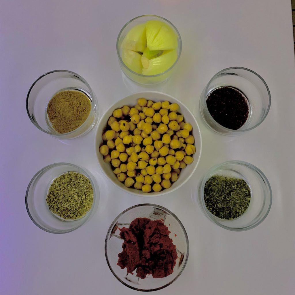 sebzeli nohut çorbası için gereken malzemeler