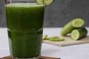 yeşil smoothie, salatalık, detoks, içecek