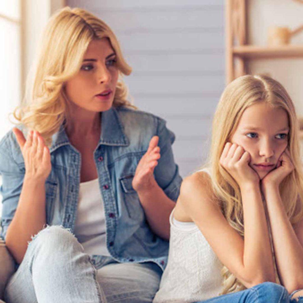anne, çocuk, kız, konuşma, ergen, ergenlik