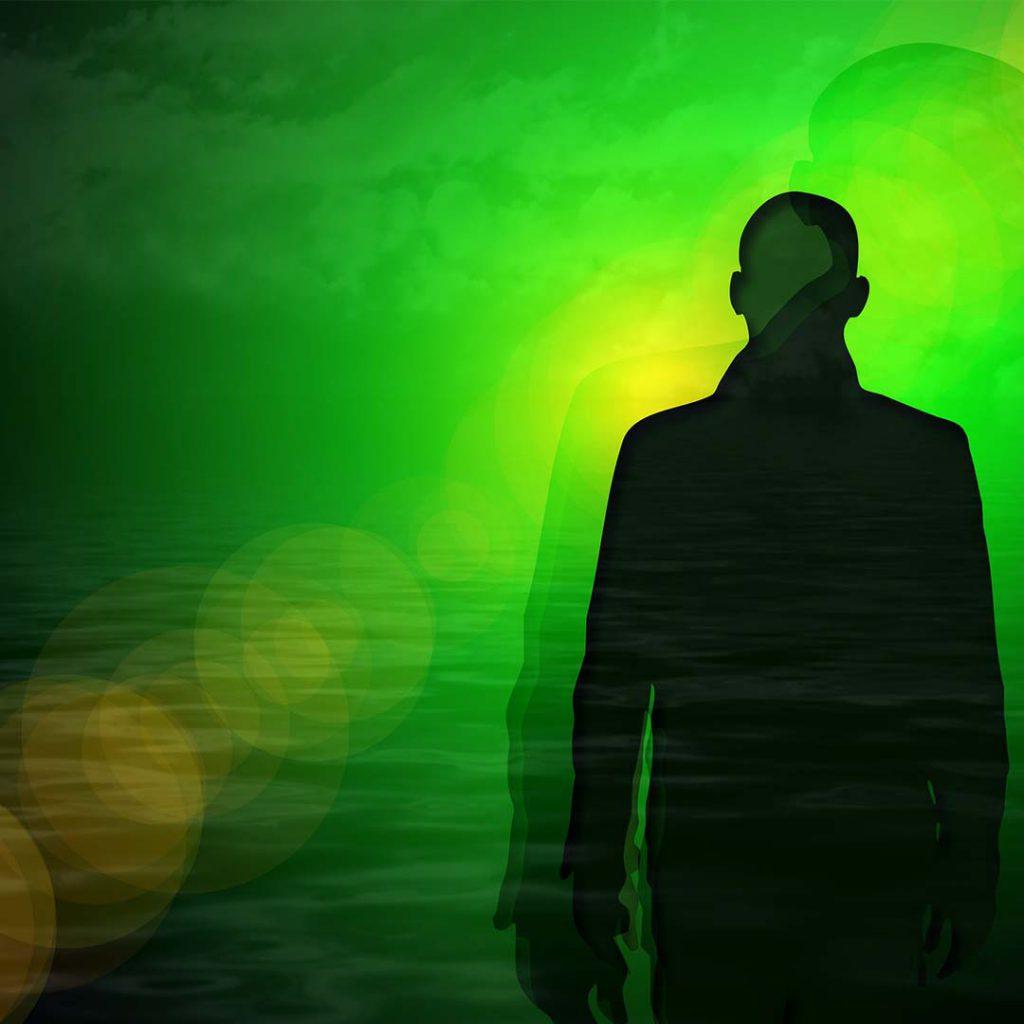erkek, adam, yalnız, tek, yeşil, hayal, yoksunluk, ilaç