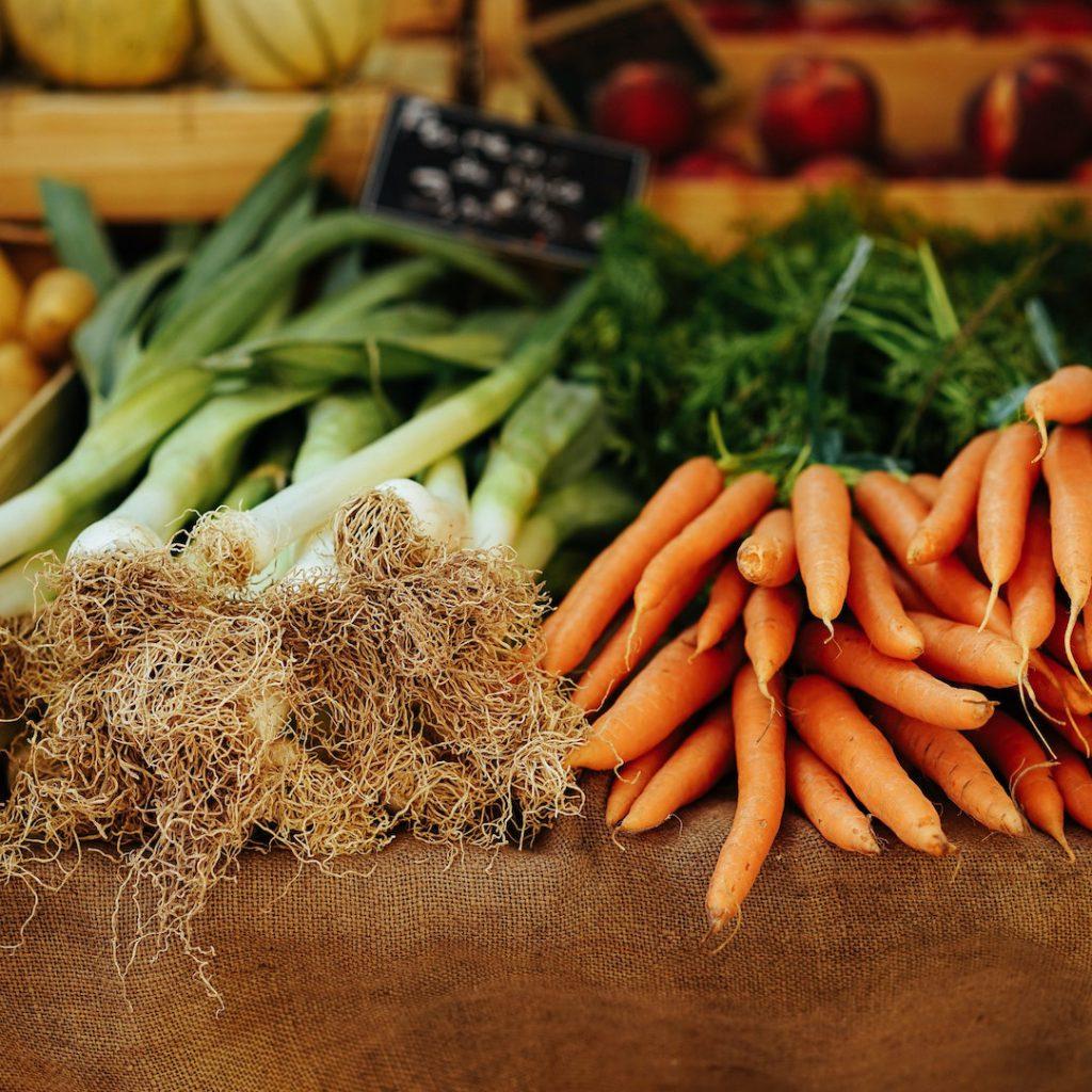 pazar, market, alışveriş, soğan, havuç
