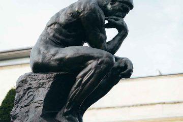 psikoloji, psikiyatri, ruhsağlığı, heykel, adam, düşünmek