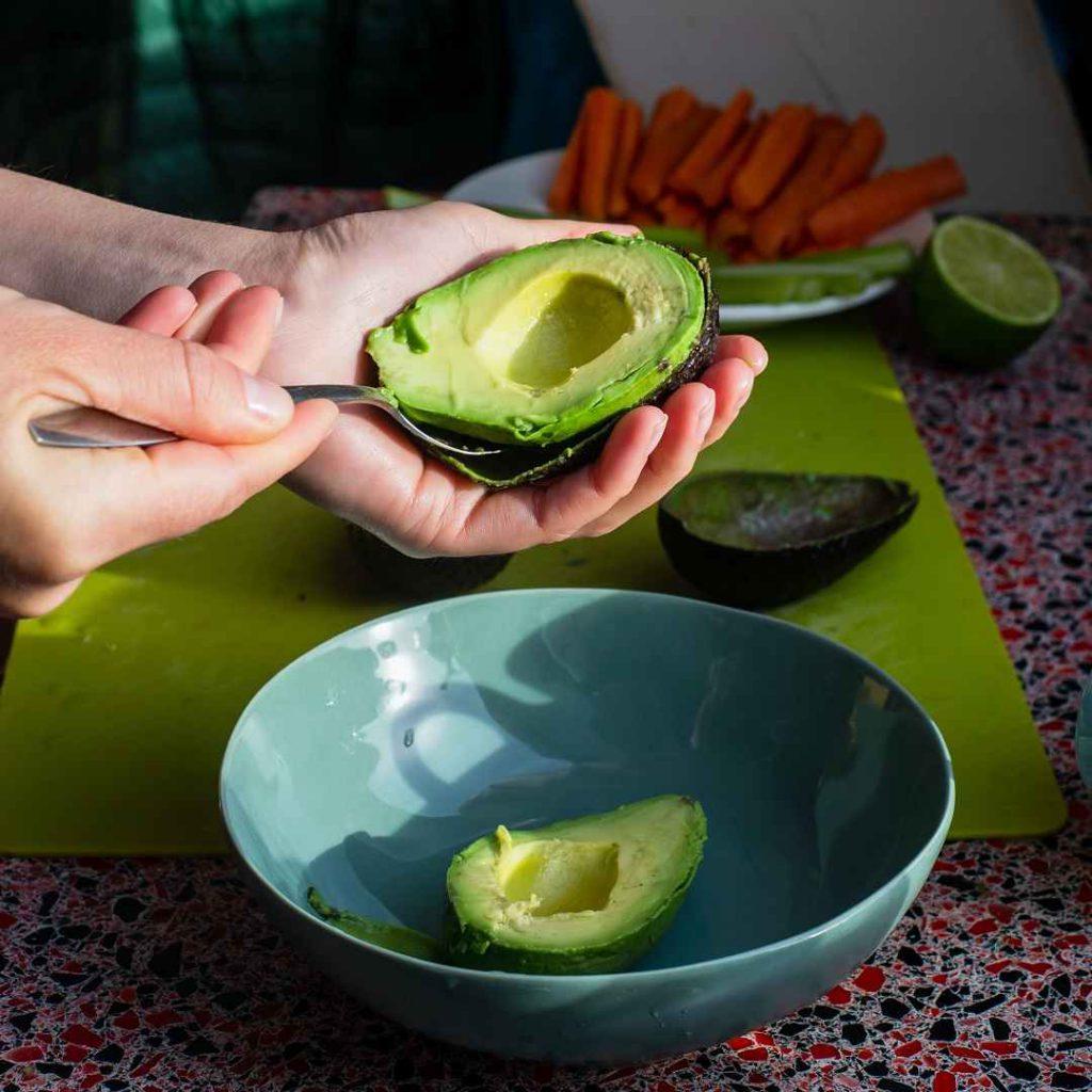 avokado, havuç, lime, porsiyon, yemek hazırlama