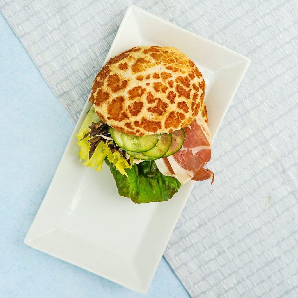 sandviç, ekmek arası, aysberg, salatalık, jambon