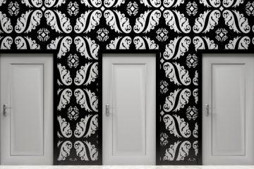 çatışma, yaklaşma, kaçınma, stres, kapı, kapılar, seçenek, seçenekler, beyaz, siyah, oda