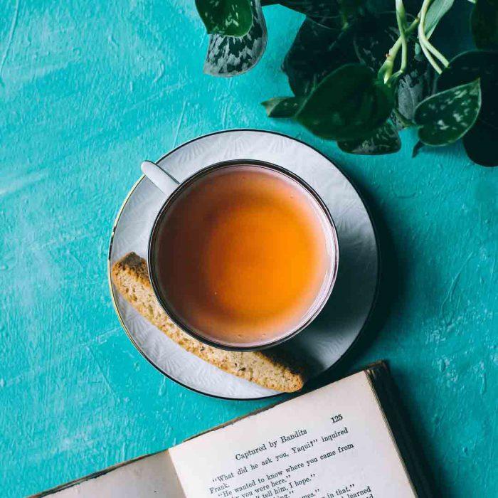 çay, kitap, bitki, gevrek, kurabiye, bitki çayı, bitkisel, mola, dinlen