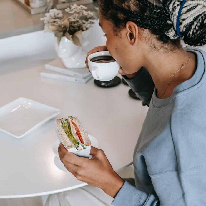 iştah, ekmek arası, sandviç, ara öğün, kahve, içecek, kadın