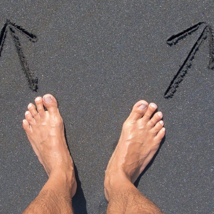 seçenek, yol, ayrım, çatışma, stres, karar, ayak, deniz, kum, yollar