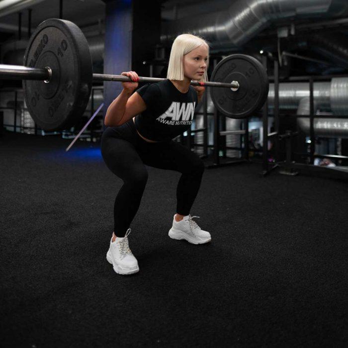 spor, kadın, egzersiz, fitness, spor salonu, vücut geliştirme, ağırlık, siyah, sarışın, beyaz spor ayakkabı