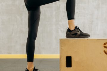 Diz, bacak, egzersiz, step, diz bükmek, spor ayakkabı, tayt