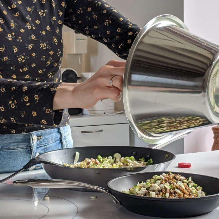 mutfak, yemek, siyah, kadın, bakır tas, tarif,
