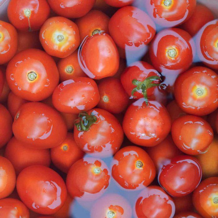domates, kırmızı, su, yıkama, besin hijyeni
