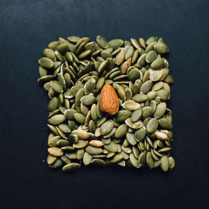 badem, çekirdek, yağlı tohum, kabak çekirdeği