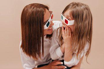 anne, kız, gözlük, 3b gözlük, 3d gözlük