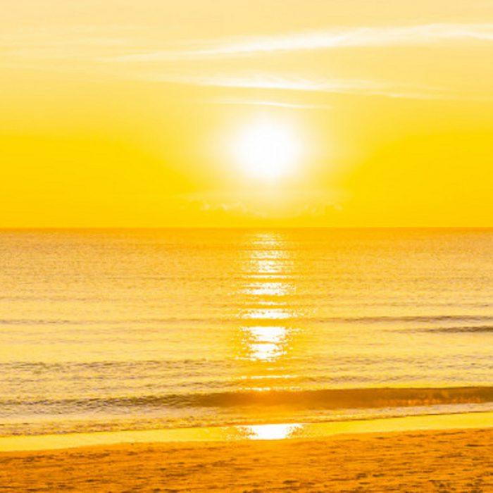 deniz, okyanus, sabah, gün batımı, gün doğumu, doğuş, batış, sarı, sahil