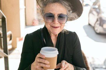 kahve, kadın, menopoz, yaşlı, oturma, dinlenme, mola