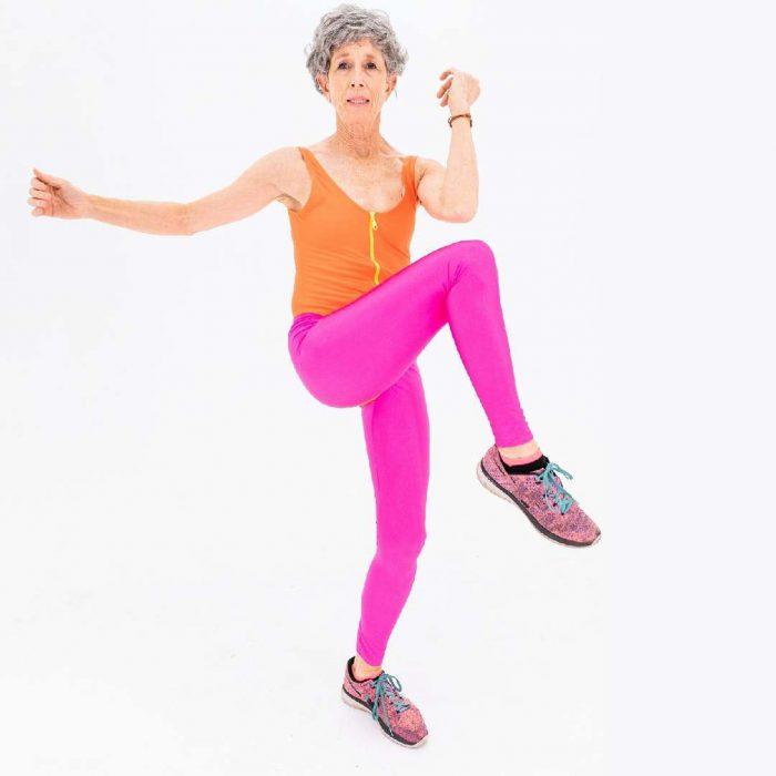 spor, body, kadın, yaşlı, pembe, spor, geriatri, fitness